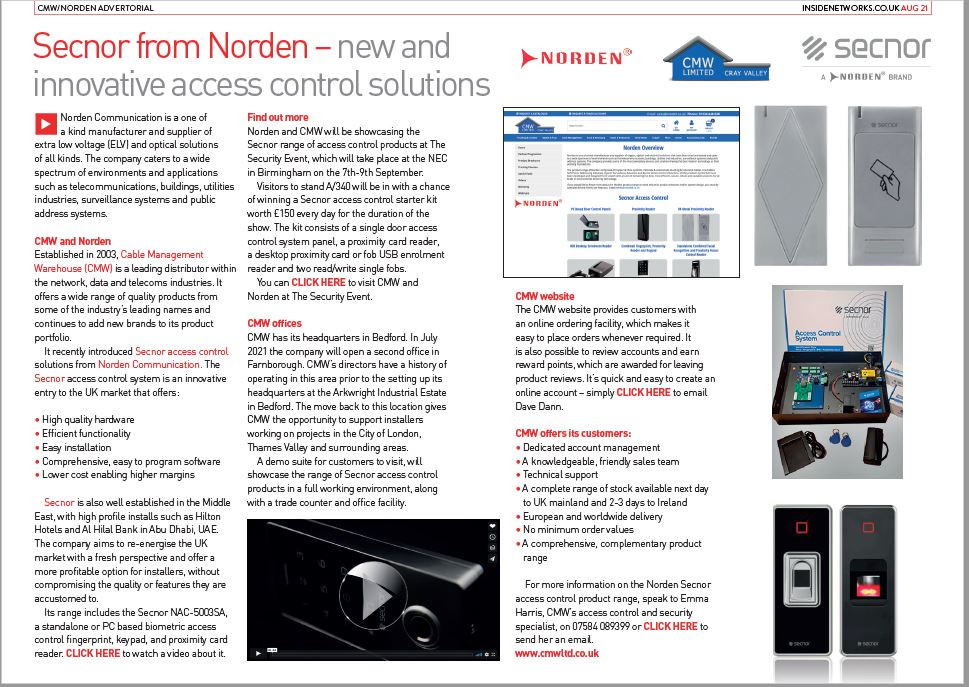 Norden Communications Secnor Access Control Solutions