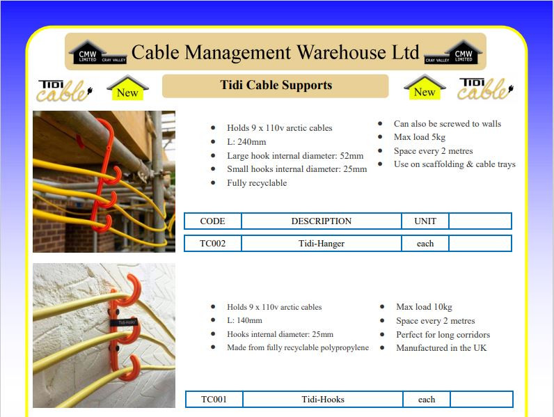 Tidi Cable Supports