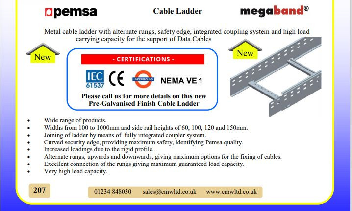 Pemsa Cable Ladder Megaband