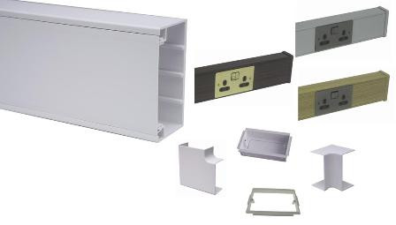 100 x 50 Dado / Skirting Trunking & Accessories
