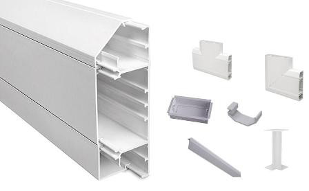 3 Compartment Dado / Skirting Trunking & Accessories