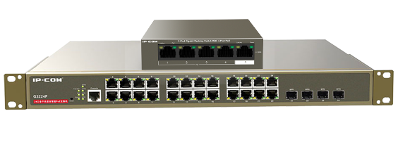 We now STOCK Power over Ethernet Switches!
