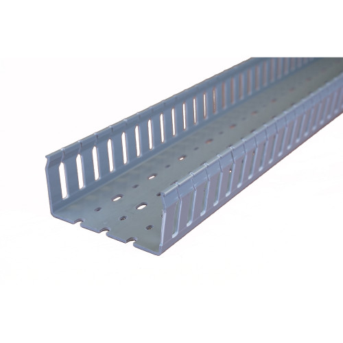 Betaduct 10450103Y Open Slot PVC Finger Trunking 100mm x 50mm Grey 2m Cable Management
