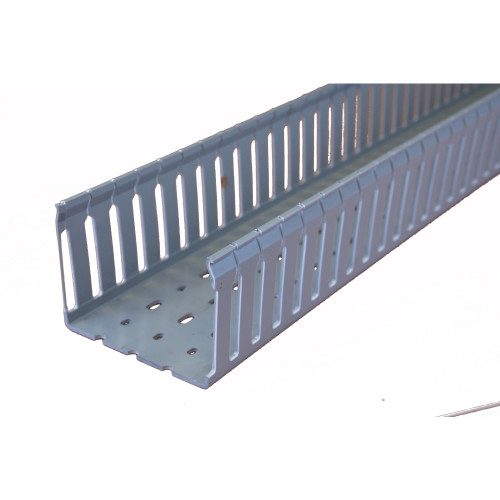 Betaduct 10450104Y Open Slot PVC Finger Trunking 100mm x 75mm Grey 2m Cable Management