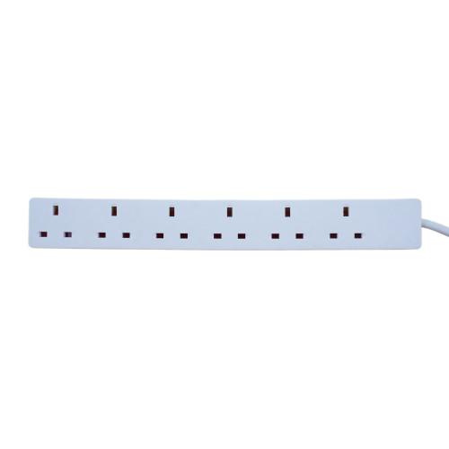 6 Gang 13A Power Extension Lead Strip 10m White (Each)