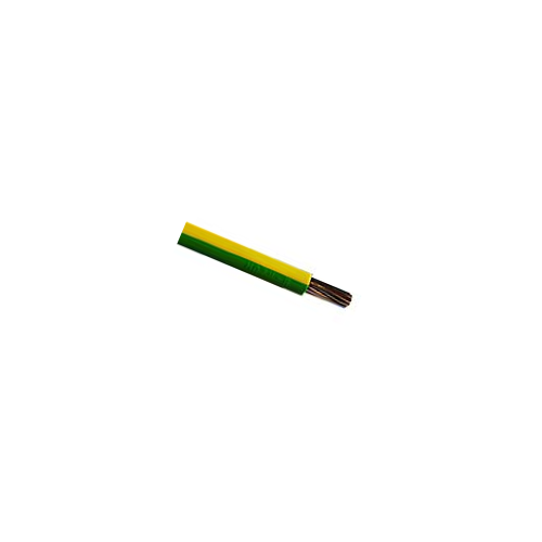 CMW Ltd  | 6491X  10mm Green / Yellow Single Core Earth Cable PVC 50m Reel (50m Reel)