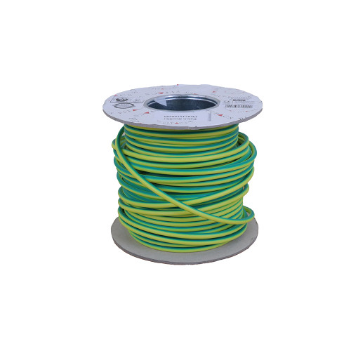 6491X  10mm Green / Yellow Single Core Earth Cable PVC 50m Reel (50m Reel)
