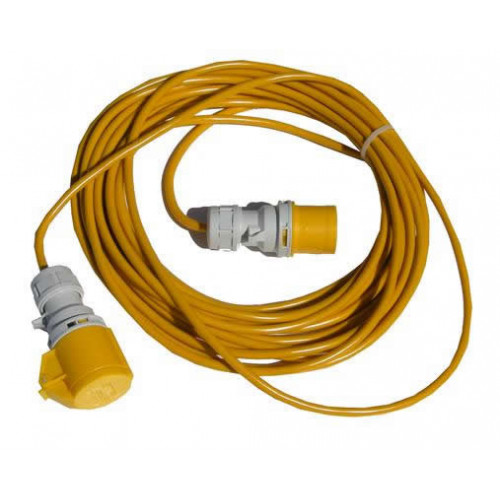 IEC60309  14m 110v Male to Female 16A Commando Lead (Each)