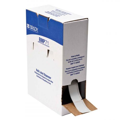 | Brady BM71-21-427 Bulk Self-laminating Vinyl Labels for M611, BMP61 and BMP71 - B-427 - 25.40 mm x 63.50 mm - White