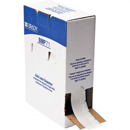 | Brady BM71-31-427 Bulk Self-laminating Vinyl Labels for M611, BMP61 and BMP71 - B-427 - 25.40 mm x 38.10 mm - White