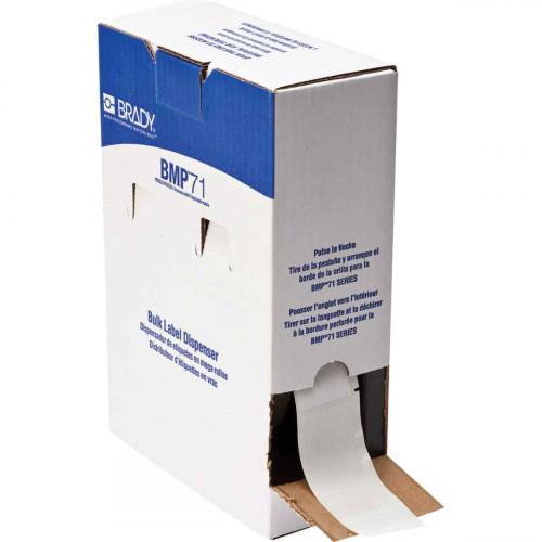 | Brady BM71-33-427 Bulk Self-laminating Vinyl Labels for M611, BMP61 and BMP71 - B-427 - 38.10 mm x 101.60 mm - White