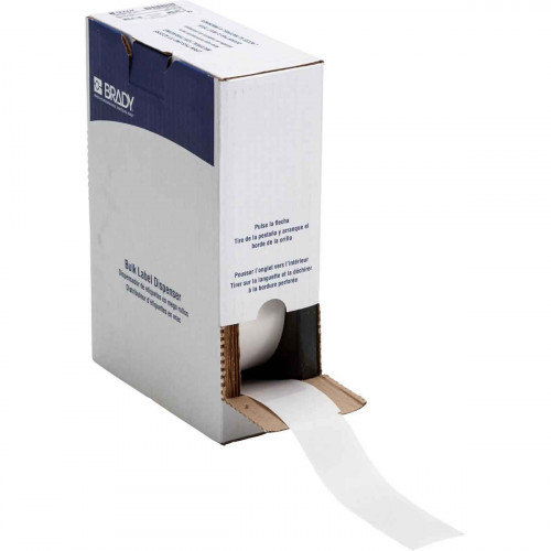 | Brady BM71-34-427 Bulk Self-laminating Vinyl Labels for M611, BMP61 and BMP71 - B-427 - 38.10 mm x 152.40 mm - White