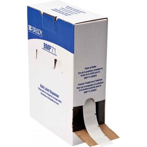 | Brady BM71-19-427 Bulk Self-laminating Vinyl Labels for M611, BMP61 and BMP71 - B-427 - 25.40 mm x 25.40 mm - White