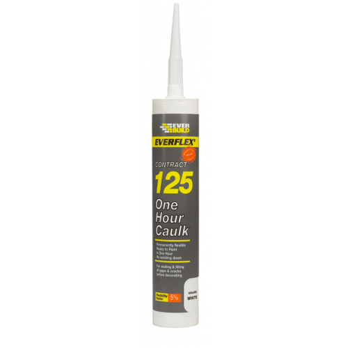 Everbuild Decorators Caulk 310ml White (Each)