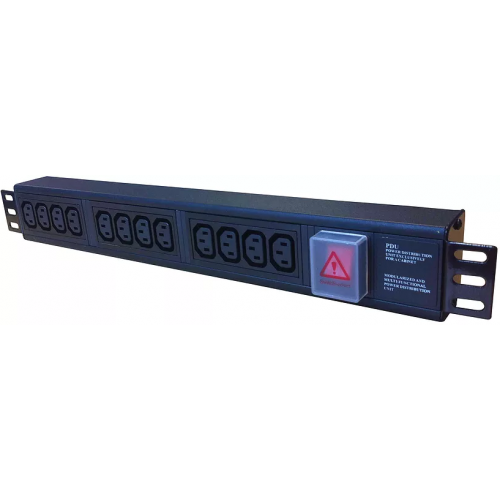 12 Way Horizontal IEC-C13 PDU 1.5U  3m Switched- Black (Each)