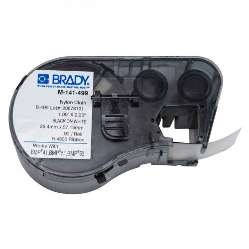 CMW Ltd cable labels | Brady M-141-499 BMP41/BMP51/BMP53 Labelmaker Labels - B-499 - 25.40 mm x 57.15 mm - Black on White