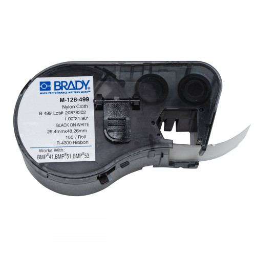 CMW Ltd cable labels | Brady M-128-499 BMP41/BMP51/BMP53 Labelmaker Labels - B-499 - 25.40 mm x 48.26 mm - Black on White