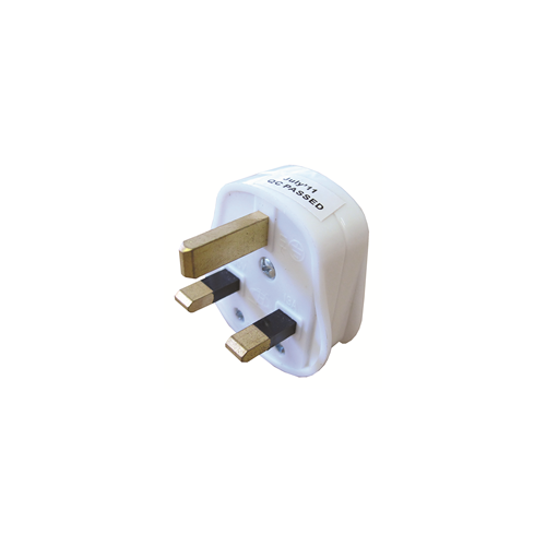 13 amp BS1363 UK 3 Pin Plug White (Each)