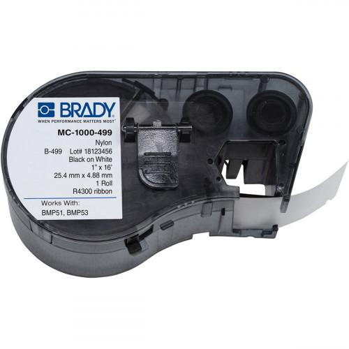 CMW Ltd cable labels | Brady MC-1000-499 BMP51/53 Labelmaker Labels - B-499 - 25.40 mm x 4.88 m - Black on White