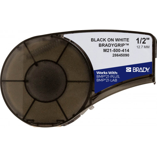 CMW Ltd  | Brady M21-500-414 Plus Series BradyGrip Print-on Hook Material featuring VELCRO Brand Hook 12.7mm