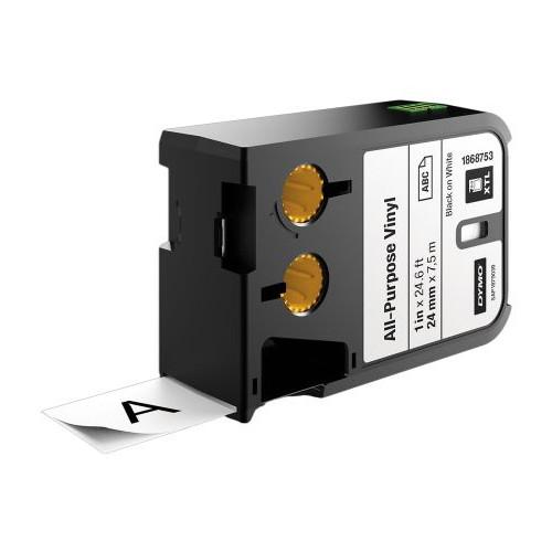 CMW Ltd  | DYMO XTL 1868753 24mm All-Purpose Vinyl Black on White Label Tape