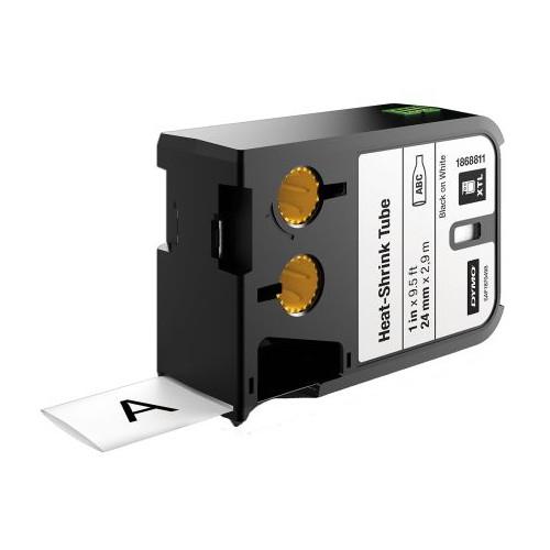 DYMO  | DYMO XTL 1868811 24mm Heat-Shrink Tube 12mm Black on White