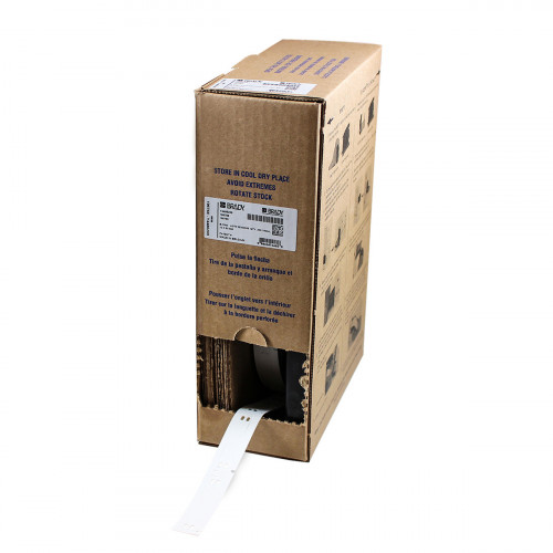   Brady BM71-10x60-7643-WT Bulk Linerless B-7643 cable tags for M611, BMP61 and BMP71 - B-7643 - 10.00 mm x 60.00 mm - White