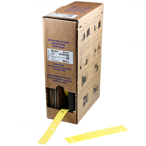 | Brady BM71-10x60-7643-YL Bulk Linerless B-7643 cable tags for M611, BMP61 and BMP71 - B-7643 - 10.00mm x 60.00mm - Yellow