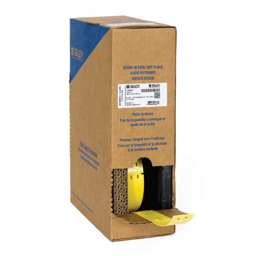   Brady BM71-10x75-7643-YL Bulk Linerless B-7643 cable tags for M611, BMP61 and BMP71 - B-7643 - 10.00mm x 75.00mm - Yellow