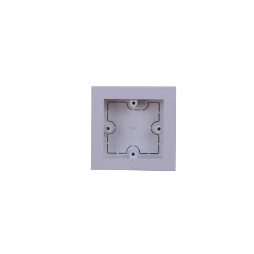 Univolt MIB60/100 | Dietzel Univolt Single Gang PVC  Maxi Trunking White Accessory Box 28mm depth