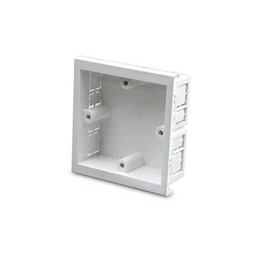 Dietzel Univolt Single Gang PVC  Maxi Trunking White Accessory Box 28mm depth (Each)