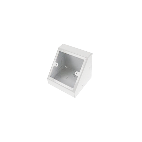 Single Gang White Pedestal Power - Data Outlet Unit (Each)