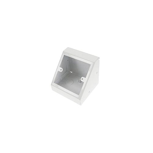 TASS PB001W | Single Gang White Pedestal Power - Data Outlet Unit