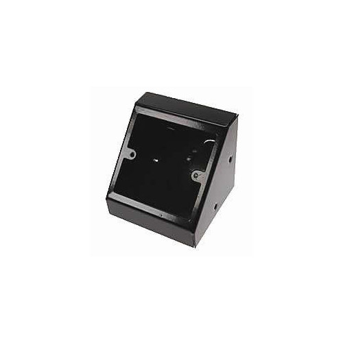 Single Gang Black Pedestal Power - Data Outlet Unit (Each)