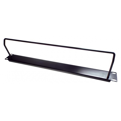 1U Cable Lacing Bar Panel 100mm Black (Each)