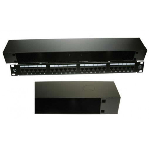 1U Universal 19 inch Patching Enclosure 90mm Deep - Black (Each)