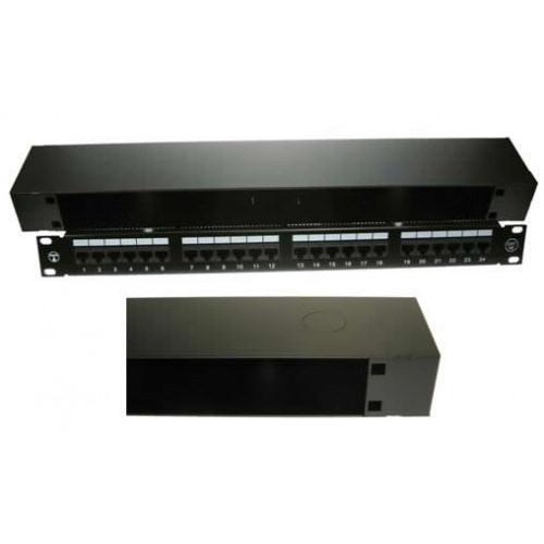1U Underfloor/Wall Mount 19 inch Patching Enclosure 90mm Deep - Black (Each)