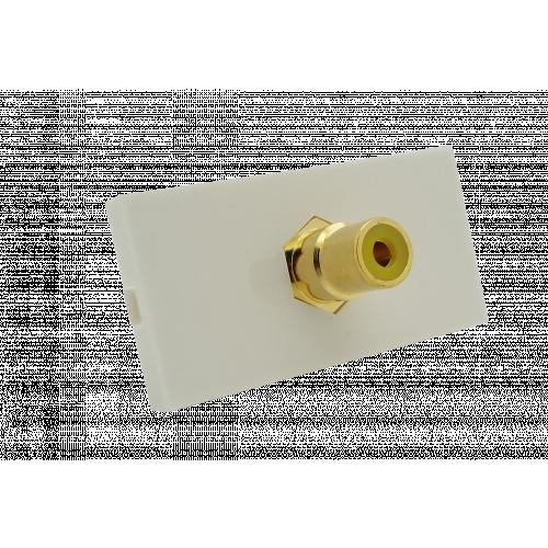 CMW Ltd  | Matrix EURO 50x25 RCA Yellow Module- White