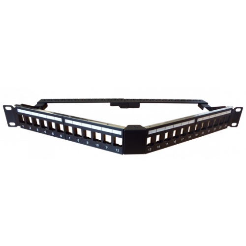 24 Port Angled Keystone Jack Panel (Each)