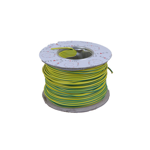 6491X 2.5mm Green / Yellow Single Core Earth Cable PVC (100m Reel)