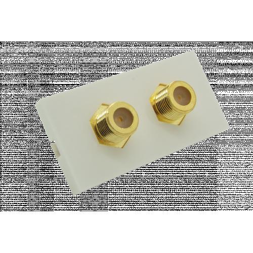 CMW Ltd  | Matrix EURO 50x25  2 x F Type Module- White