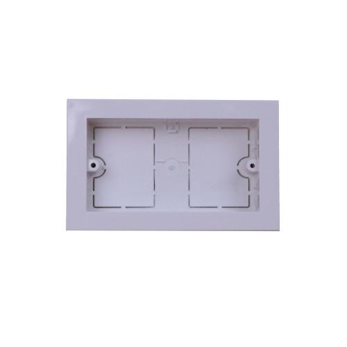 Univolt MIB120/100   Dietzel Univolt Double Gang PVC for 100 x 50mm for Maxi Trunking White Accessory Box 28mm depth