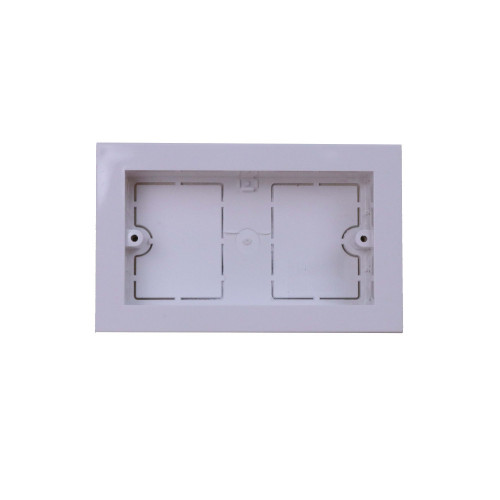 Univolt MIB120/100 | Dietzel Univolt Double Gang PVC for 100 x 50mm for Maxi Trunking White Accessory Box 28mm depth