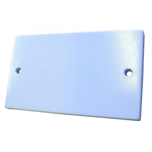 White  Double Gang Blank Plate (Each)