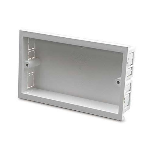 Dietzel Univolt Double Gang PVC for 100 x 50mm for Maxi Trunking White Accessory Box 28mm depth (Each)