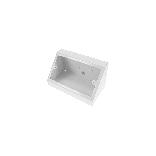 Double Gang White Pedestal Power - Data Outlet Unit (Each)