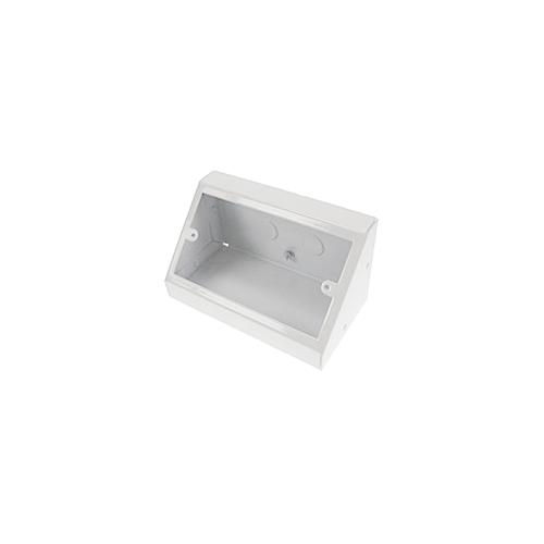 TASS PB002W | Double Gang White Pedestal Power - Data Outlet Unit