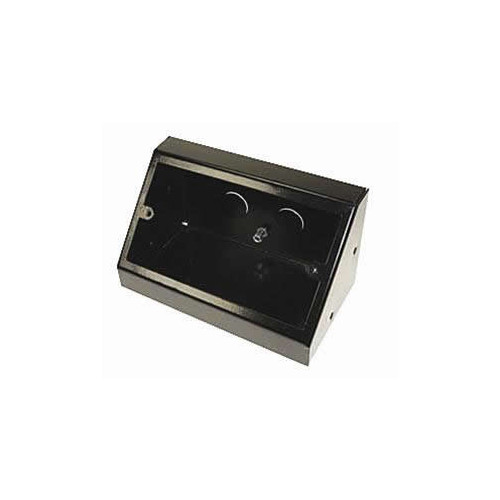 Double Gang Black Pedestal Power - Data Outlet Unit (Each)