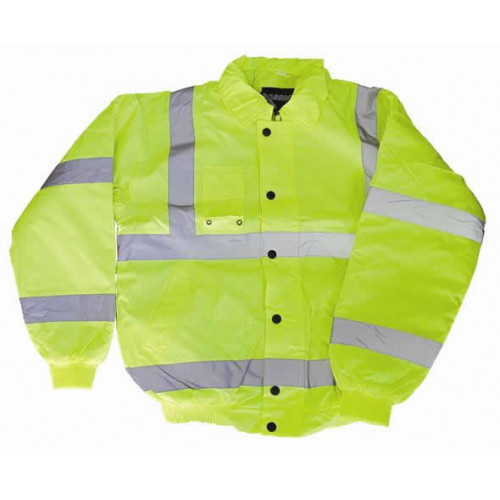 CMW Ltd  | Yellow Hi-Vis Bomber Jacket - Large