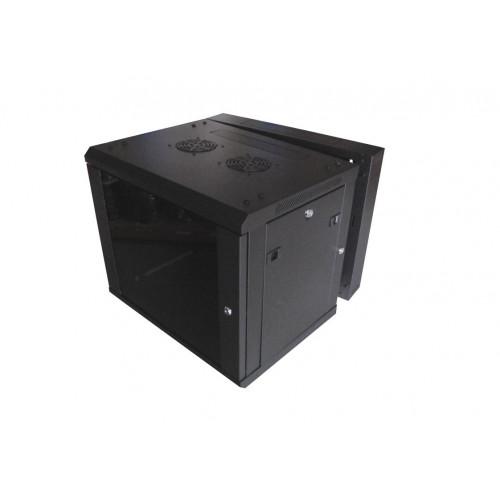 CMW Ltd    12U Black 2 Section Wall Box